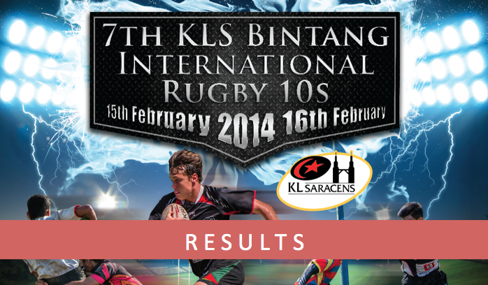 KLS Bintang International Rugby 10s 2014 - Sunday Results