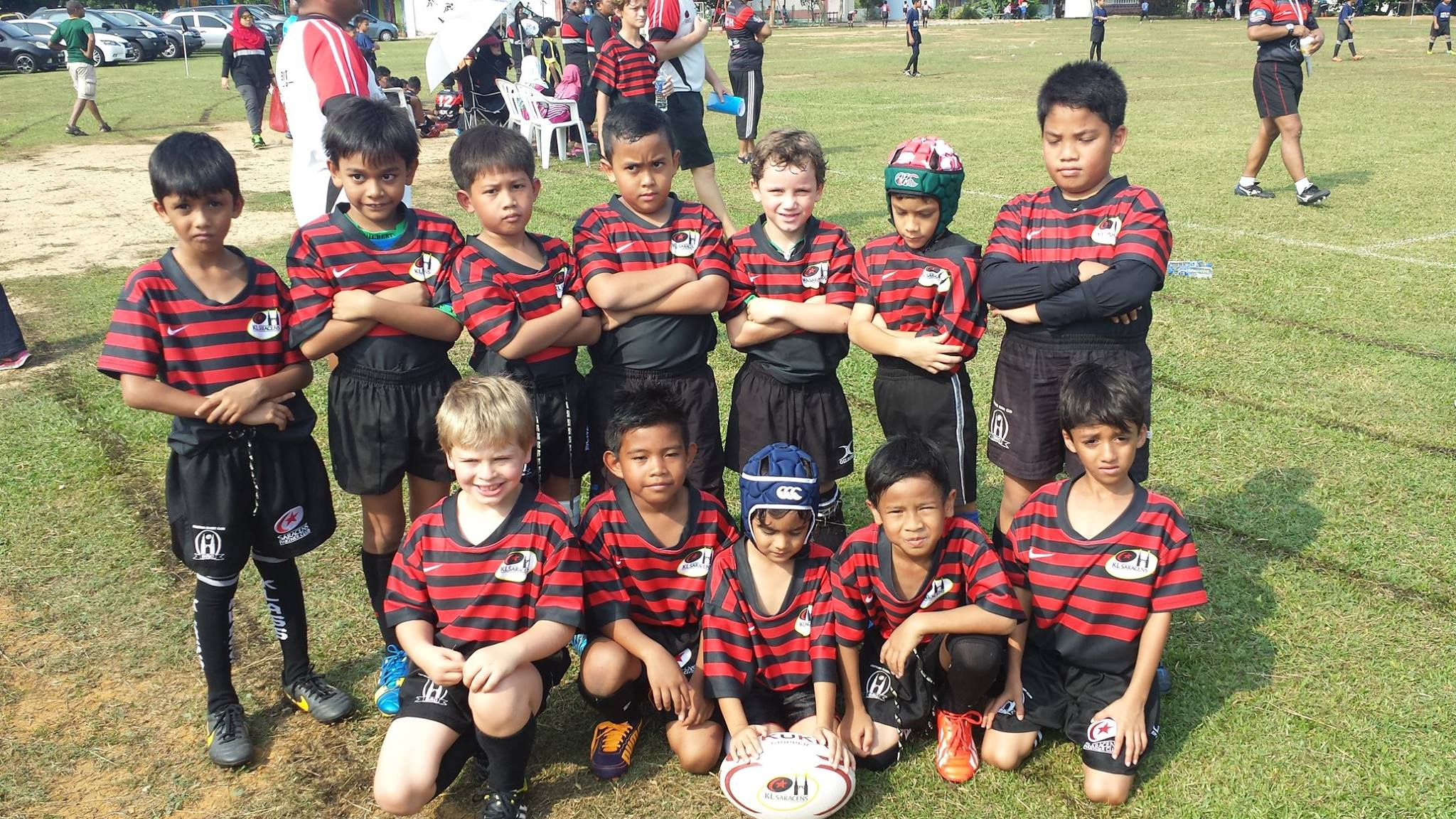 KL Saracens Under 8 at D'Rhinos 10s 2014